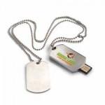 USB metálico 20 con placa militar